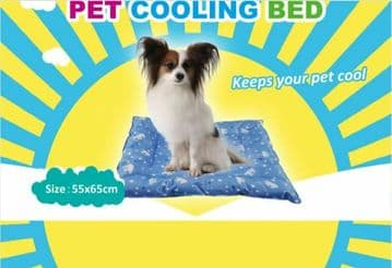 PET DOG COOLING BED + MAT animal cool sleeping beds 55cm x 65cm x 7cm